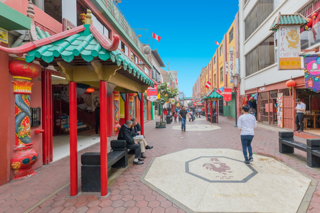 Lima Peru August 2018 a few blocks from the historic center is this Chinese quarter, also frequented by tourists. Editorial