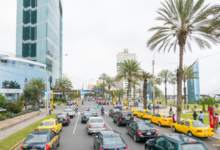 Peru July 2018 Day activities in Miraflores district, the most important business center of Lima.