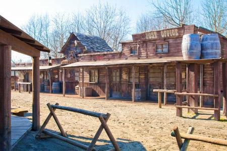 Voghera Italia 6 marzo 2011 nel parco a tema Cowboyland puoi visitare questo tipico villaggio del Far West