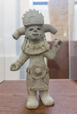 Bogota,  Colombia March 13  This anthropomorphic figure exhibited in National Museum represents the politic power in third century BC. Shoot on March 13, 2019