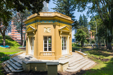 Bogota,  Colombia  March 25  located in the Independence Park, is the first concrete structure doubles as a replica of Versaille s Petit Trianon Belvedere and a symbol for development. Shoot on March 25, 2019 Editöryel