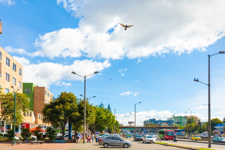 Bogota,  Colombia  July 7 Panoramic view of Normandy district in Northern Bogota is known for is known for its proximity to the airport of the capital. Shoot on July 7, 2019