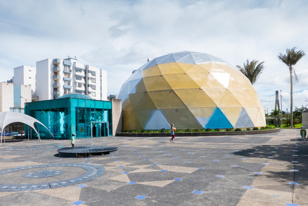 Bogota,  Colombia  July 7 Exterior view of Maloka museum an interactive science museum located in Bogota, Colombia. Visitors interact with a wide variety of exhibits. Shoot on July 7, 2019