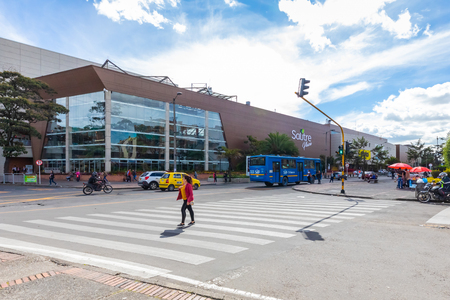 Bogota July 7 Street life in Salitre district in Northern Bogota, known for its proximity to the airport of the capital. Shoot on July 7, 2019 Redakční