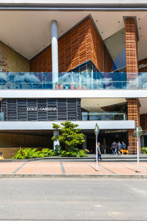 Bogota Colombia July 7 Entrance of Andino mall located in Northern Bogota. Appreciated by locals  as it is full of shops, restaurants and famous brands.  Shoot on July 7, 2019 Editorial