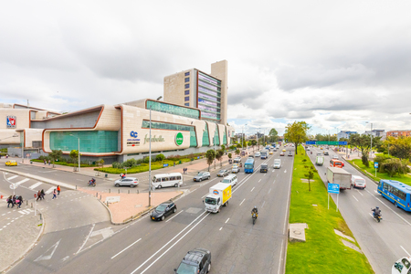 Bogota Colombia July 7 Exterior view of Titan mall located in Northern Bogota. Appreciated by locals  as it is full of shops, restaurants and movie houses. Shoot on July 7, 2019