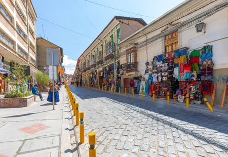 La Paz Bolivia August 27, Bolivia La Paz witchcraft market in the historic center in the morning. Shoot on August 27, 2019