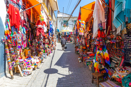 La Paz Bolivia August 27, Bolivia La Paz witchces market in the historic center in the morning. Shoot on August 27, 2019