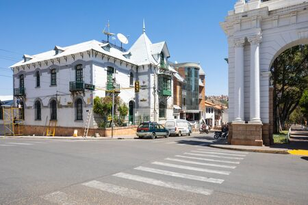 Sucre Bolivia September 29, This historical well kept building houses the headquarters of the famous periodical southern courier. on September 29, 2019