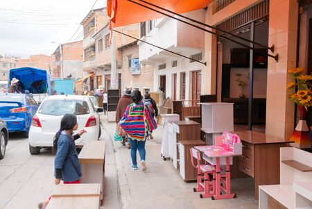 Sucre Bolivia October 19 furniture shop at the farmer market in Northern Sucre the biggest market of the city. Shoot on October 19, 2019 Stock Photo