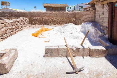 Uyuni Bolivia October 22 area of salt processing  in a small factory located in Uyuni salar.