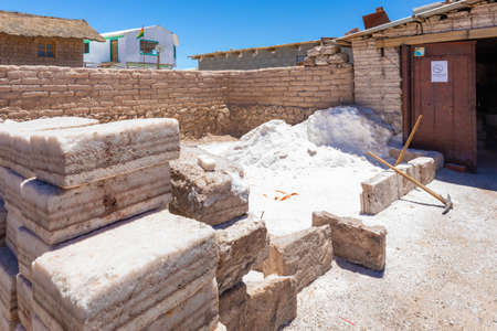 Uyuni Bolivia October 22 blocks of salt extracted from the salar ready to be transformed into furniture.