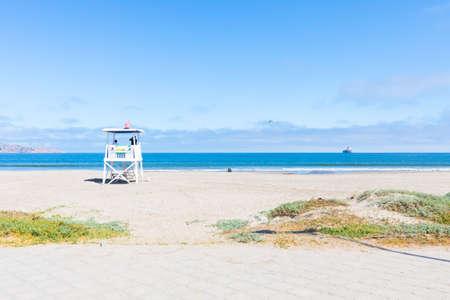 La Serena Chile November 6 lookout tower on the beach of la Serena. Shoot on November 6, 2019