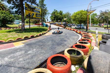 Carlo Paz  Argentina January 7 Sited in Northern Carlo paz this go kart circuit is one of the tourist attractions of the city. Shoot on January 7, 2020