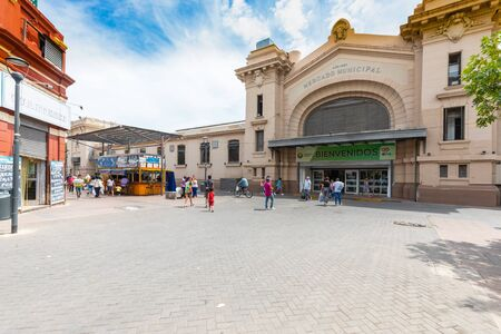 Cordoba Argentina January 31 entrance of the building that houses the fruit and vegetable local market located in Northern Cordoba. Shoot on January 31, 2020 写真素材