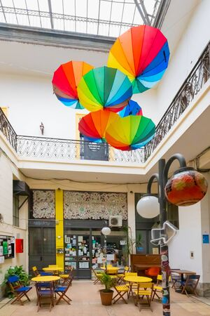 Rosario Argentina February 9  the oldest shopping arcade of the city sited in the historic center called Pan passage.  Shoot on February 9, 2020