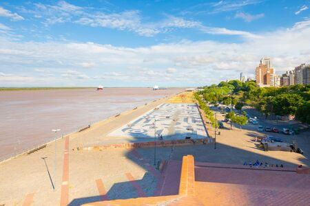 Rosario Argentina February Spain Park on Parana is an area dedicated to open air activities that attracts thousands of people every day. Shoot on February 9, 2020