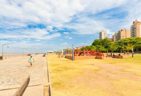 Rosario Argentina February 9 play area in Spain Park on Parana river bank. It is an area dedicated to open air activities. Shoot on February 9, 2020