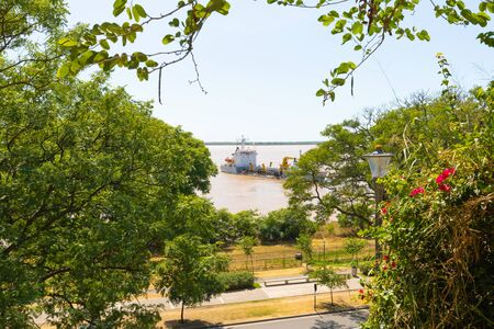 Rosario Argentina February 16 Parana River seen from Urquiza Park sited in Southern Rosario. Shoot on February 16, 2020