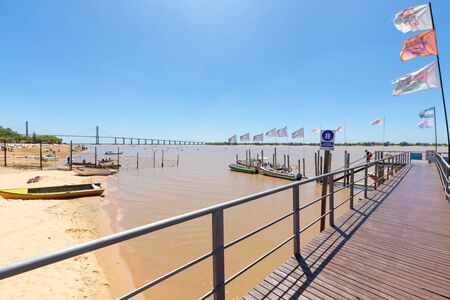 Rosario Argentina February 27 jetty of tourist boats that take people to visit the islands of the Parana river. Shoot on February 23, 2020