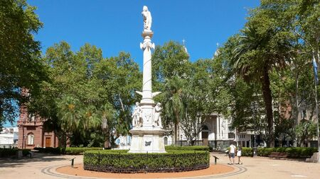 Rosario Argentina February 16 Independence Monument sited in 25 Mayo Square reminds the manifestations during the dictatorship. Shoot on February 16, 2020 写真素材