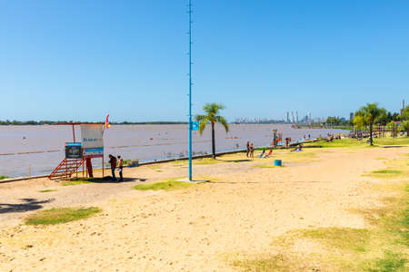 Rosario Argentina February 23 Florida beach in Northern Rosario is a nice area where locals do open air activities along the Parana river. Shoot on February 23, 2020