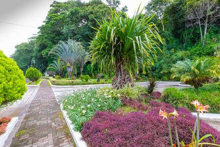 Panama Boquete public gardens and pedestrian path