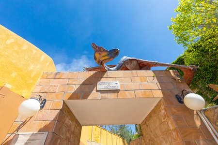 Sucre Bolivia September 27 The Cretaceous Park includes a small museum and movies on dinosaurs that lived here millions of years ago. Shoot on October 17, 2019
