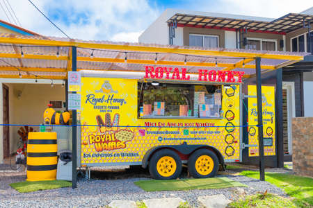 Panama Boquete July 6 this honey shop is set up in an equipped and decorated caravan in the Alto Boquete district. Shoot on July 6, 2020