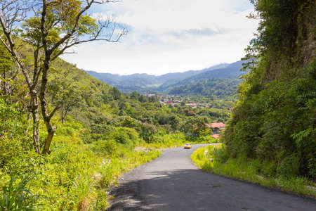 Panama Boquete panoramic view of the valley in a sunny day