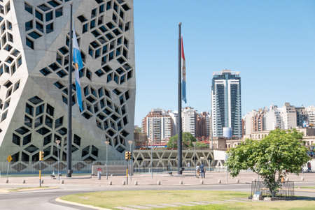 Cordoba Argentina December 17 modern architecture in Bicentenario district Northern Cordoba. Shoot on December 17, 2019