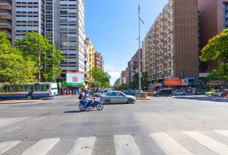Cordoba Argentina December 17 Cordoba's roads are well organized allowing people to move quickly despite the size of the city. Shoot on December 17, 2019
