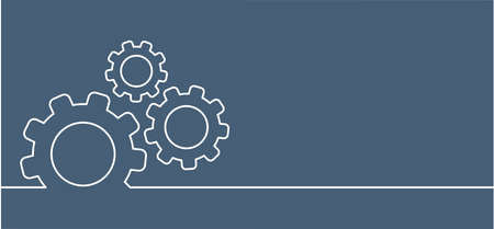 Cogwheels brain. Think big ideas. Gear mechanism settings tools template banner. Funny vector cog signs. Cogwheel strategy teamwork concept icons. Gears in Progress. Cogs icon.