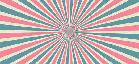 Starburst style shapes Stripes in retro pop art 80's 70's years background Funny vector comic clipart line Geometric seamless pattern elements Sunshine cartoon line radial lines rays Sun burst Vektorové ilustrace