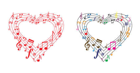 Musical notes stave line pattern symbols icon for staff and music note theme Transparent background wave Piano, jazz sound notes Fun vector key sign Classic clef Doodle quaver G melody on paper.