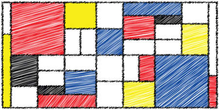 Checkered style emulation. The Netherlands art history and Holland painter. Dutch mosaic or checker line pattern. Retro pop art pattern