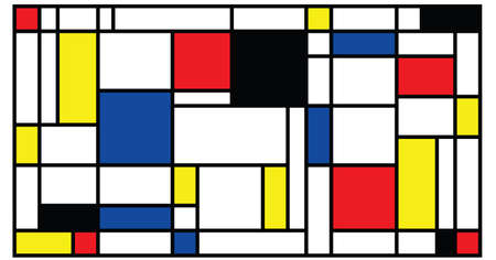 Checkered style emulation. The Netherlands art history and Holland painter. Dutch mosaic or checker line pattern. Retro pop art pattern Vektorové ilustrace