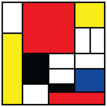 Checkered style emulation. The Netherlands art history and Holland painter. Dutch mosaic or checker line pattern. Retro pop art pattern Vetores