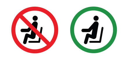 Caution signboard, Safety icon. Don't lean on door, glass, wall, gate or railing. Don