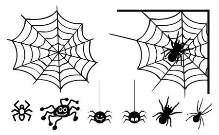 Black Cobweb, background. Vector Spider happy halloween party day fun funny spooky creepy horror insect hush slide 31 october fest Spiderman hallow Webbing line pattern Unlucky Accident zombie.