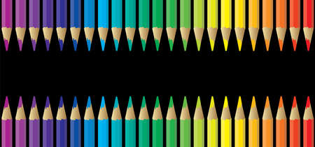 Pencils, rainbow color. Cartoon ball pen icon. Drawing hand pen streak sign for write taking notes, signature, question mark faq, letter or blog, Writing Icon. Painted ink pen. Pencil day, Teachers day. Çizim