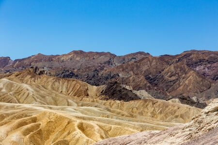 Zabriskie Point is a part of Amargosa Range located in east of Death Valley noted for its erosional landscape. It is composed of sediments from Furnace Creek Lake, which dried up 5 million years ago