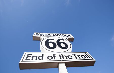 route 66 ends in Santa Monica Stock Photo