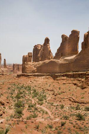 arches national park desert rock vista moab utah usa
