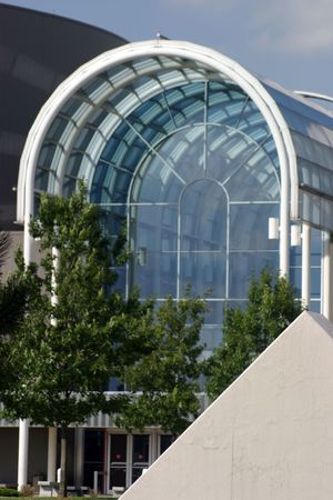 atrium: Glass Atrium Stock Photo