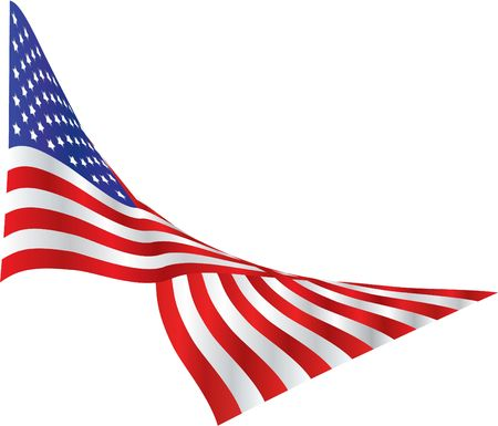 billowing: American Flag in the Wind Stock Photo