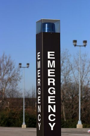 Emergence call box Stock Photo