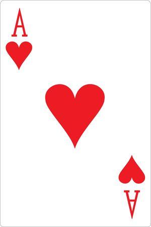 hold'em: Ace of Hearts Illustration