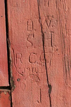 initials: Carved Initials