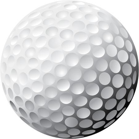 Vector Golf Ball, zware schaduw Stock Illustratie
